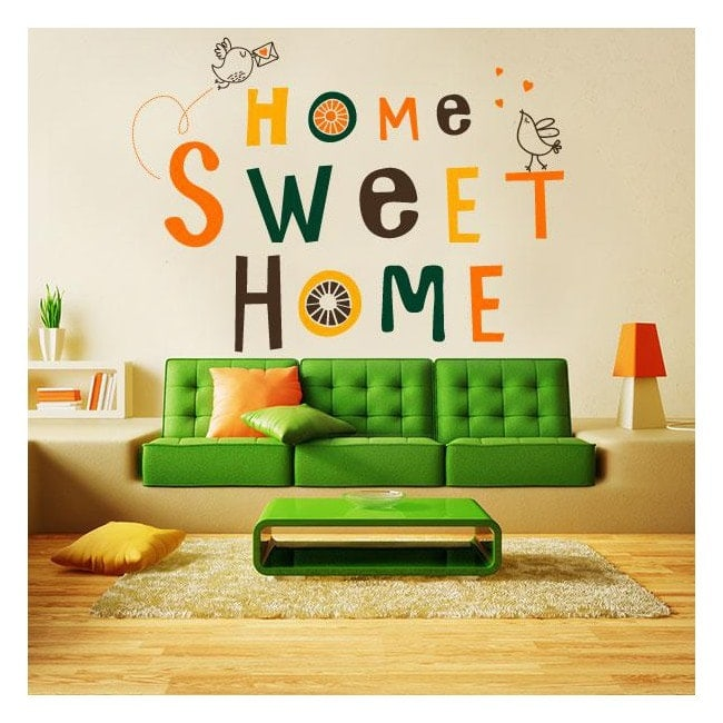 D coratif vinyl et autocollant home sweet home for Home sweet home arredamento