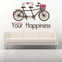 Expression de vinyle décoratif partager votre bonheur