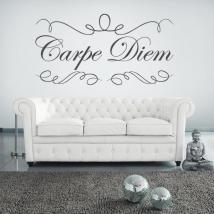 Autocollants en vinyle décoratif Carpe Diem