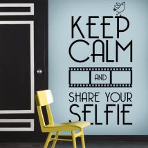 Décoratif vinyl garder calme et Share Your Selfie
