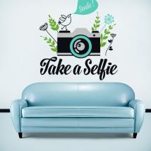 Stickers vinyl décoratif prennent un Selfie
