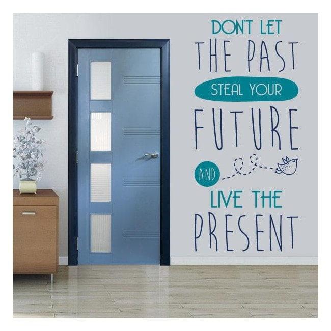 Décoratif vinyl French phrases Live The Present
