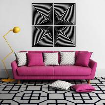 Effet d'optique décoratif vinyl adhésif