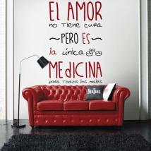 Médecine de vinyle adhésif décoratif de l'amour