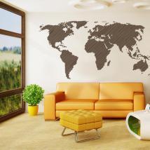 Lignes de carte pour le monde décoratif adhésif vinyle