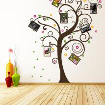 Photos de famille arbre décoratif vinyl