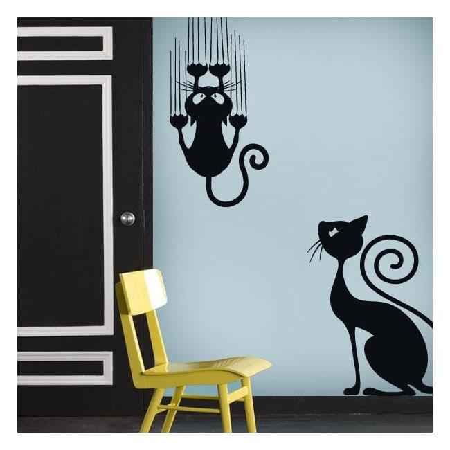 Autocollants en vinyle décoratif et chats autocollant