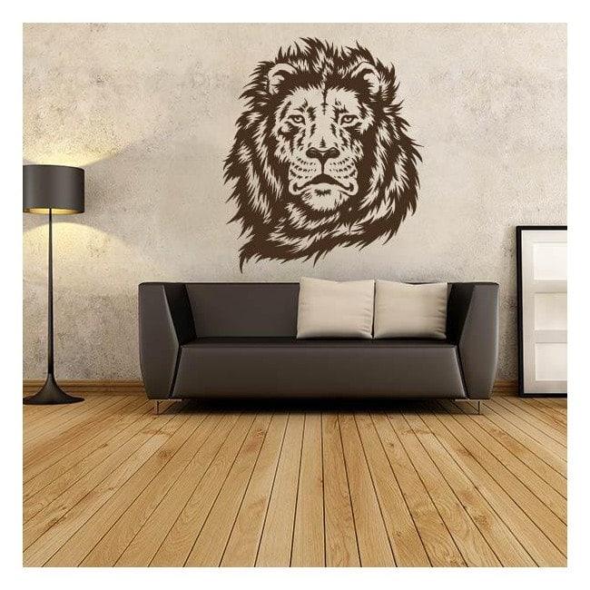 Visage de lion vinyle silhouette décorative