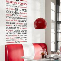 Règles décoratifs de vinyle de la salle à manger