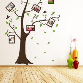 Autocollants muraux photos de famille arbre
