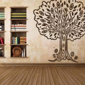 arbre d coratif vinyl tribal. Black Bedroom Furniture Sets. Home Design Ideas