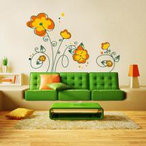 Printemps vinyle décoratif Floral