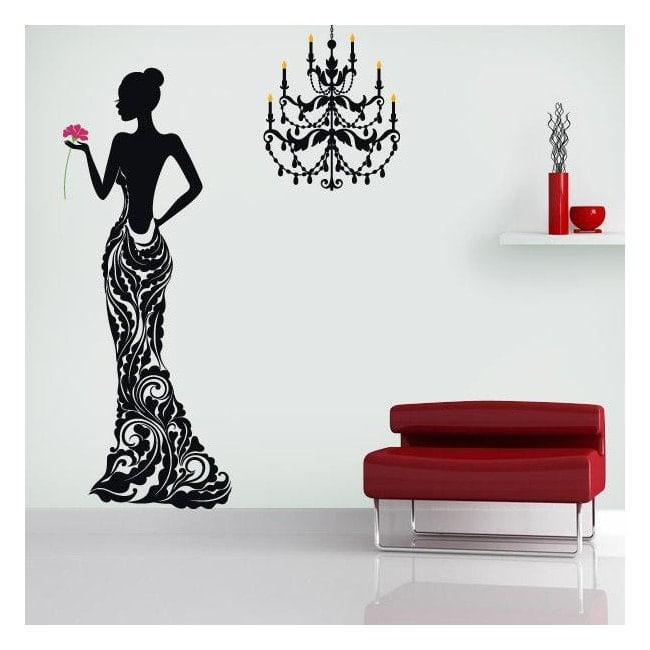 Autocollants muraux femme silhouette deluxe for Autocollants muraux
