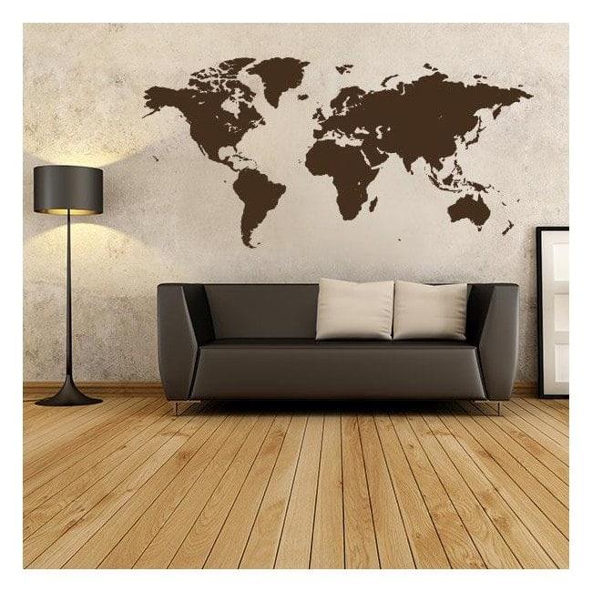 sticker vinyle d coratif et mappemonde autocollant. Black Bedroom Furniture Sets. Home Design Ideas
