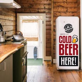 Vinyle décoratif autocollants bière froide ici