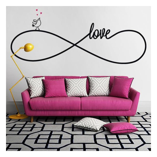 d coratif vinyl autocollant amour. Black Bedroom Furniture Sets. Home Design Ideas