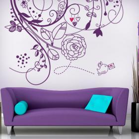 Fleurs de mur en vinyle de l'amour