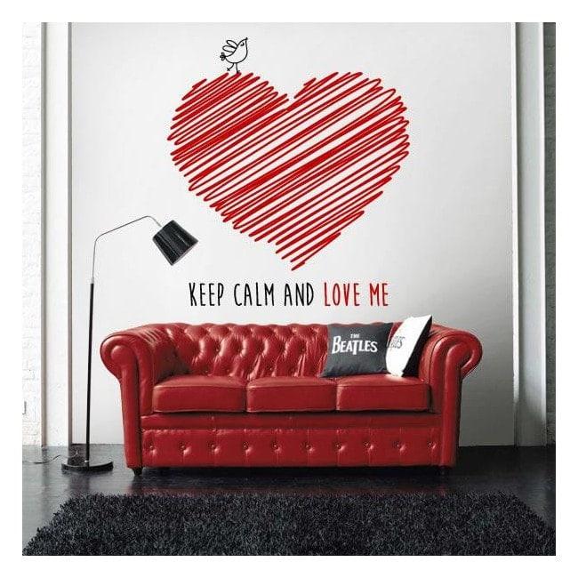 Vinyle décoratif garder calme et m'aimer