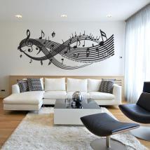 Mur de vinyle autocollant musique est le plus Direct-Art