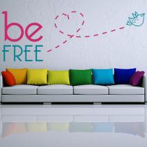 Textes de vinyle décoratif et phrases Be Free
