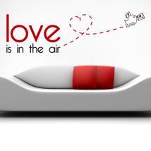 Décoratif vinyl French phrases amour est dans l'Air