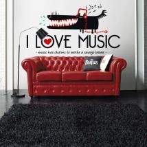 Vinyles décoratifs I Love Music