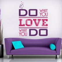 Vinyle décoratif faire ce que vous aimez