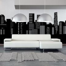 Ville panoramique vinyle décoratif Skyline