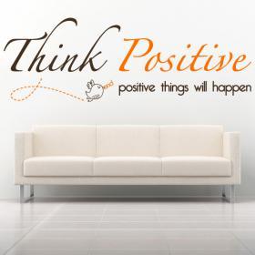 Expression anglaise vinyle décoratif penser positif