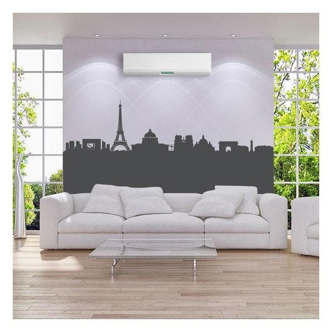 Décoratif vinyl Skyline panoramique Paris