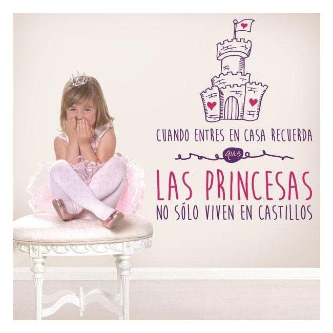 Princesses de phrases décoratif de vinyle