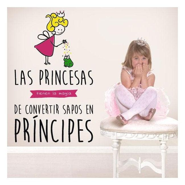 Enfant de vinyle décoratif la magie des princesses