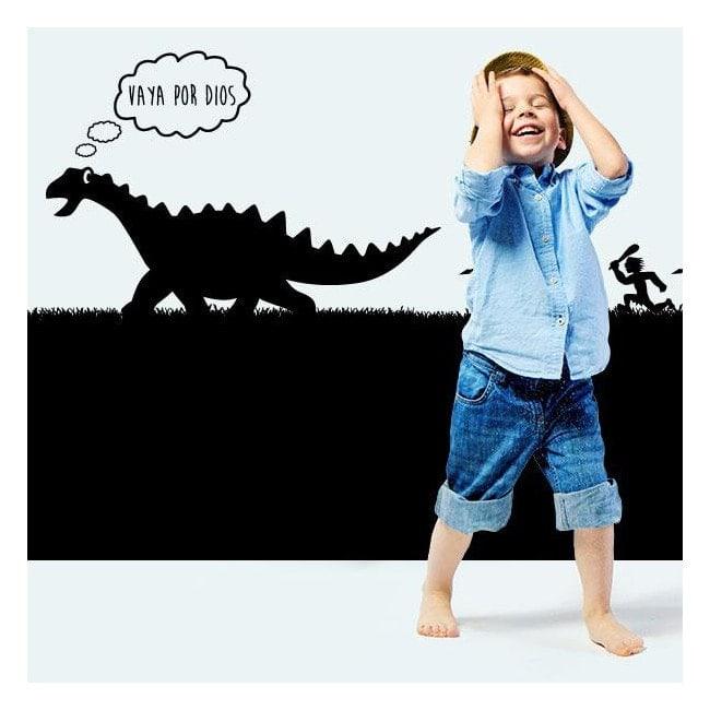 Chasse de vinyle décoratif enfant dinosaure