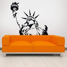 Statue de vinyle décoratif de la liberté