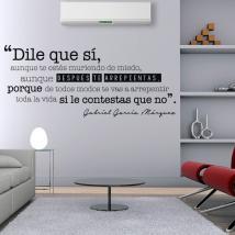 Expression de vinyle décoratif Gabriel García Márquez