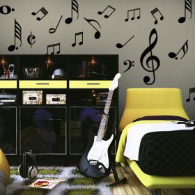 Vinyle décoratif Kit notes de musique