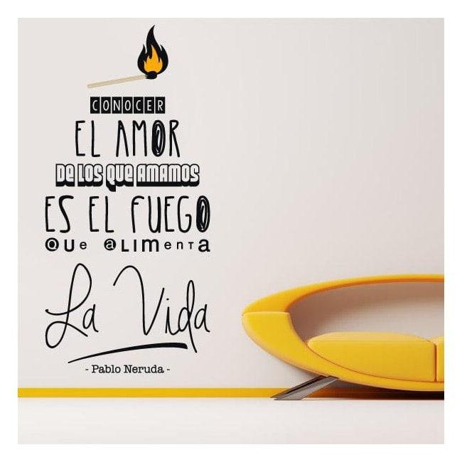 Expression de vinyle décoratif Pablo Neruda