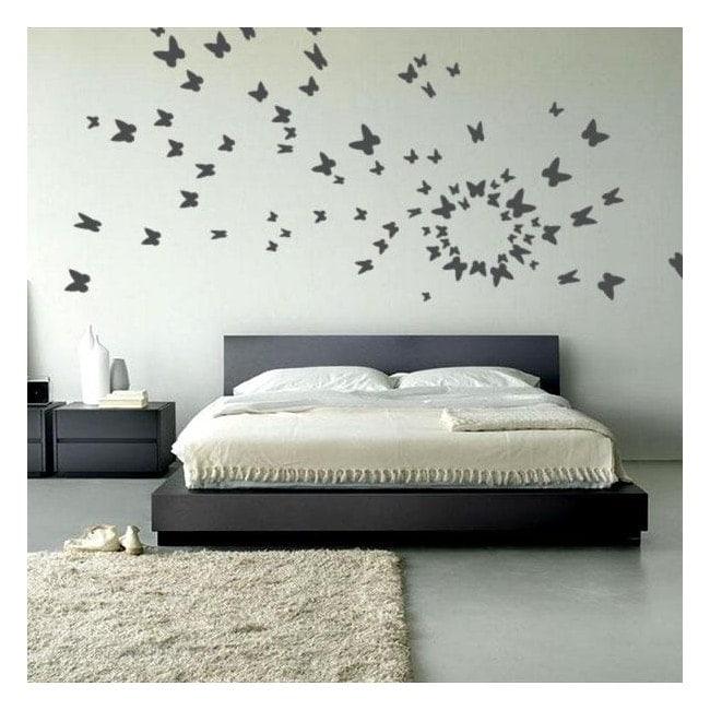 Papillons décoratifs vinyle à la volée