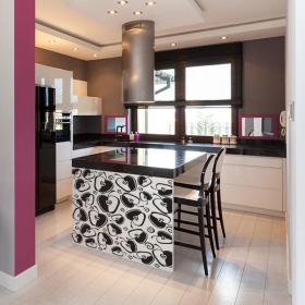 cuisine pomme vinyle d coratif. Black Bedroom Furniture Sets. Home Design Ideas