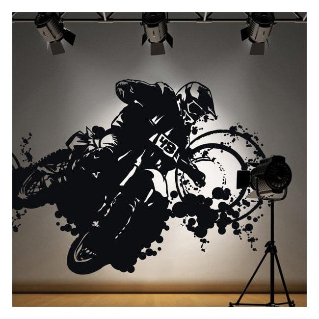 Vinyle adhésif décoratif Motocross