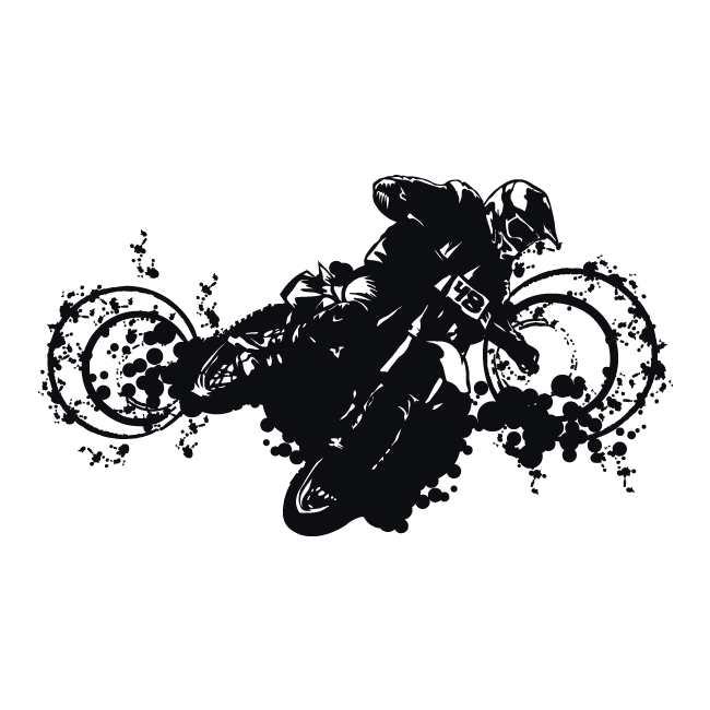 Vinyle Adh Sif D Coratif Motocross