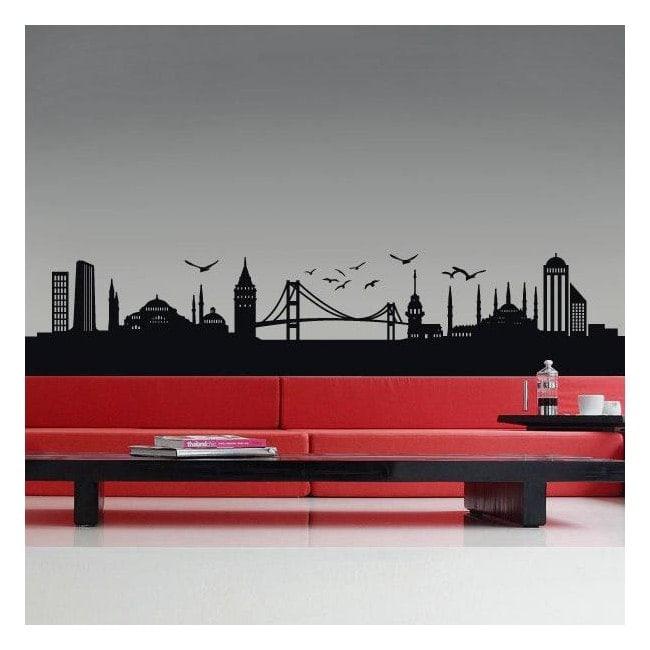 Décoratif vinyl Istanbul Skyline