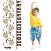 Moutons de vinyle décoratif compteur taille enfants