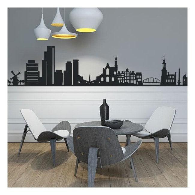 Vinyle décoratif de la Skyline Amsterdam