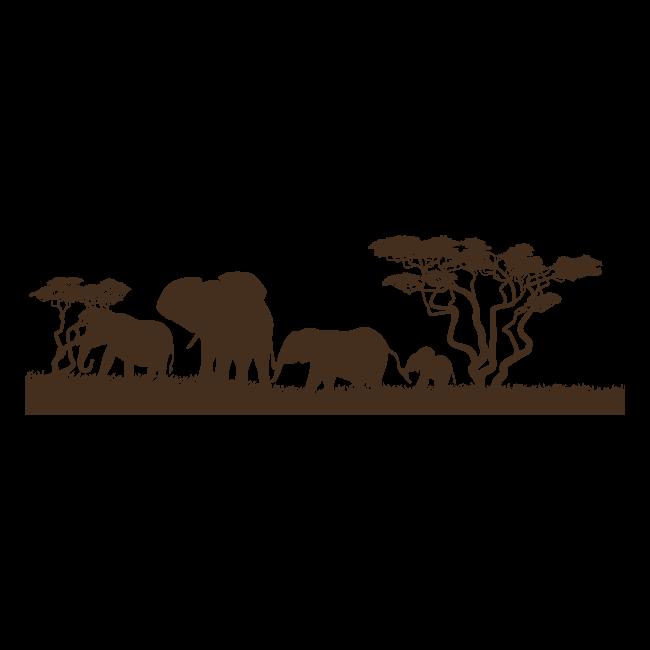 Éléphants africains vinyle décoratif