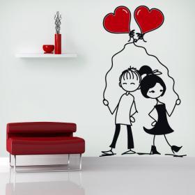 Moments romantiques vinyle décoratif