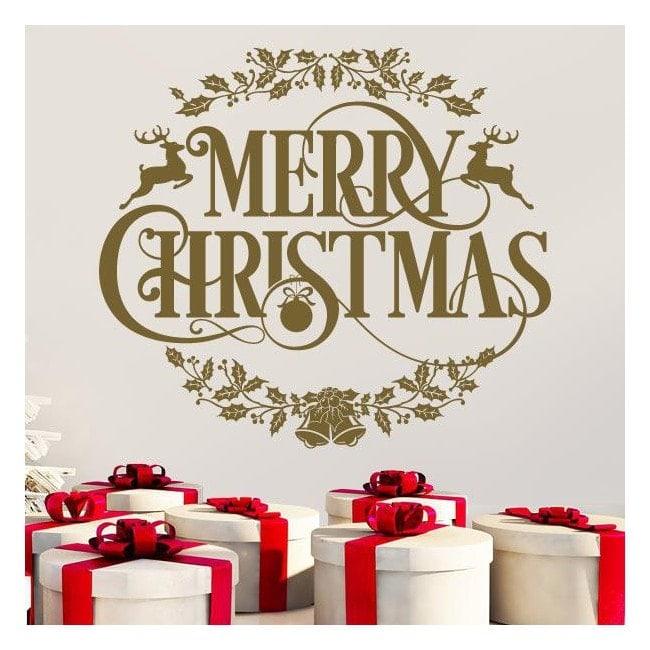 Texte de vinyle Noël joyeux Noël