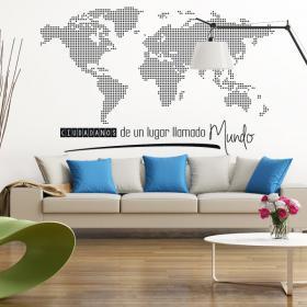 Citoyens espace vinyle d'un lieu appelé monde