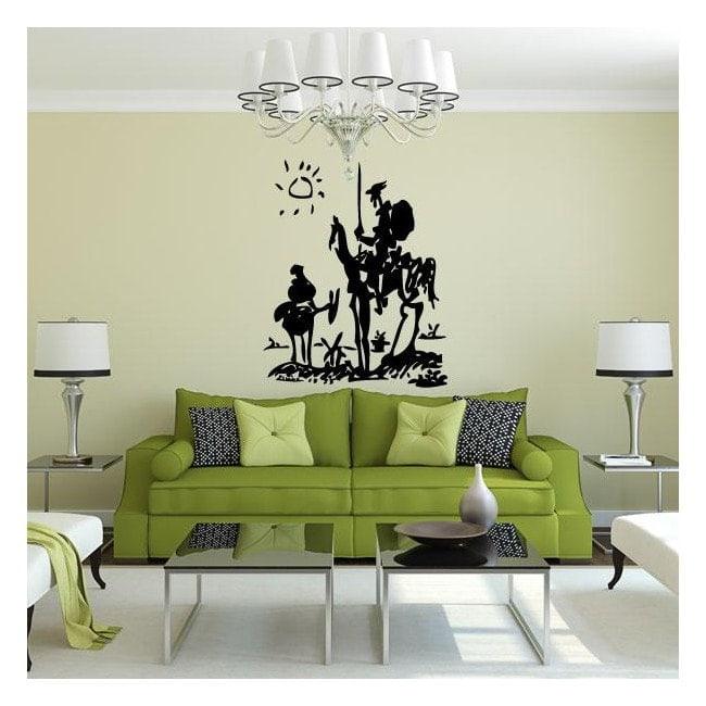 Panneaux luminescents de Don Quichotte de démarcation fluowall Pablo Picasso