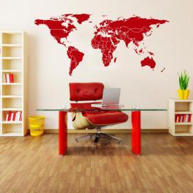 Carte du monde vinyle
